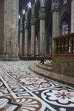 Decorated floor in candoglia marble Royalty Free Stock Photos