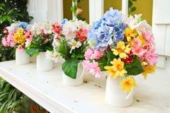 Decorated flower in garden Stock Photos