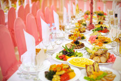 Decorated Food Table Royalty Free Stock Photos