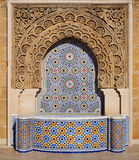 Decorated fountain with mosaic tiles in Rabat, Morocco Royalty Free Stock Images