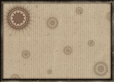 Decorated frame with old paper background Stock Photography