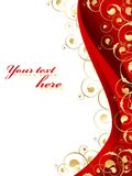 Decorated frame in red and gold Stock Photography