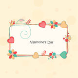 Decorated frame for Valentine's Day celebration. Stock Photos