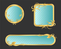 Decorated frame. Decorated vintage style gold frame, mirror Royalty Free Stock Photography