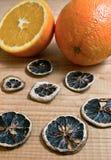 Decorated fresh orange scented wood background Stock Photography