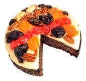 Decorated Fruit Cake Stock Image