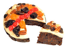 Decorated Fruit Cake Stock Photos