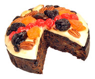 Decorated Fruit Cake Royalty Free Stock Photos