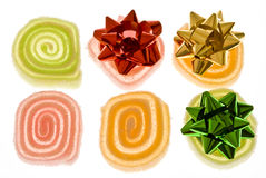 Decorated fruit jelly Stock Photography