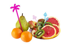 Decorated fruits Stock Image