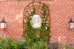 Decorated Garden Wall Stock Photography