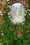 Decorated Garden Wall Royalty Free Stock Image