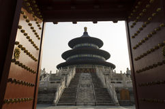 Decorated Gate and The Temple of Heaven Tiantan Daoist temple eligious buildings Beijing China Stock Images