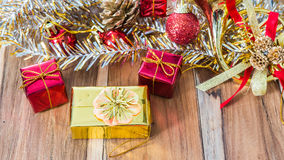 Decorated gift box for Christmas and New Year Royalty Free Stock Images