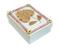 Decorated gift box on a white background Royalty Free Stock Photography