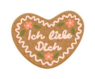 Decorated gingerbread heart Royalty Free Stock Image