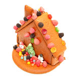 Decorated gingerbread house Royalty Free Stock Photography