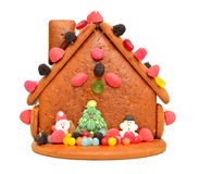 Decorated gingerbread house Royalty Free Stock Photos
