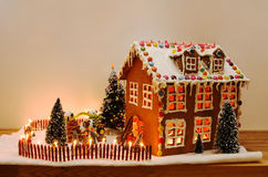 Decorated gingerbread house Stock Images