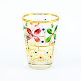 Decorated glass cup Stock Image