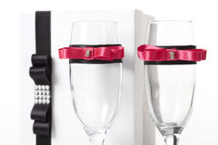 Decorated glasses Royalty Free Stock Photos