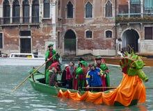 Decorated Gondola Royalty Free Stock Images