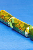 Decorated green Christmas cracker Royalty Free Stock Image
