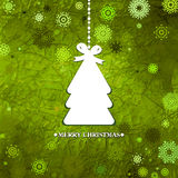 Decorated green Christmas tree. EPS 8 Royalty Free Stock Photography
