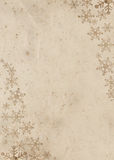 Decorated grunge paper for christmas card Stock Images
