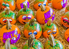 Decorated Halloween Pumpkins Stock Images