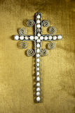 Decorated Hand Made Wire Cross and Beads Royalty Free Stock Photo
