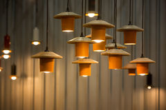 Decorated hanging lamps Royalty Free Stock Photo