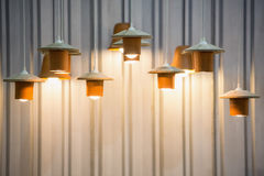 Decorated hanging lamps Royalty Free Stock Photos
