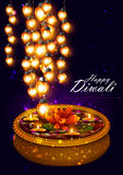 Decorated for Happy Diwali background Royalty Free Stock Photos