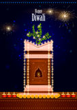Decorated for Happy Diwali background Stock Images