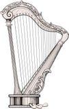Decorated harp Stock Photo
