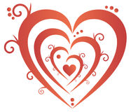 Decorated heart Stock Image