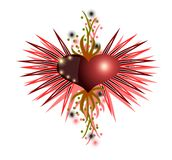 Decorated heart Royalty Free Stock Photography
