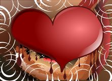 Decorated heart on abstract background Stock Images