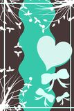 Decorated heart on abstract background Royalty Free Stock Images