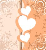 Decorated heart on abstract background Royalty Free Stock Photo