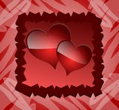 Decorated heart on abstract background Royalty Free Stock Photography