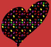 Decorated heart on abstract background Royalty Free Stock Image