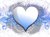 Decorated heart on abstract background Stock Image
