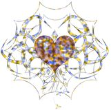 Colorful artistic heart isolated Royalty Free Stock Image