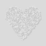 Decorated heart Stock Photography