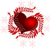 Decorated heart Stock Photos