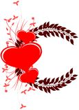 Decorated hearts Royalty Free Stock Images