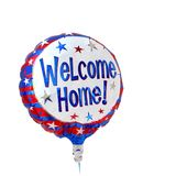Gas balloon welcome home text, isolated on white royalty free stock photos