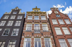 Decorated historical facades in the center of Amsterdam Stock Photography